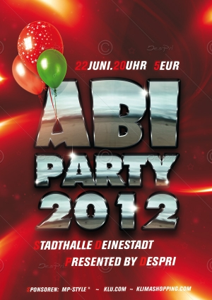 ABI PARTY - Flyer Design für Despri.de #0004