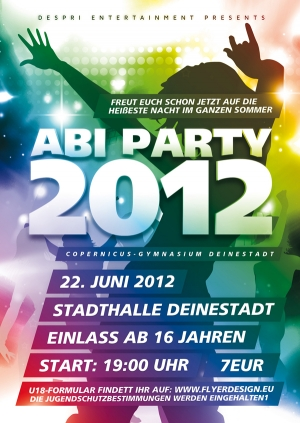 ABI PARTY - Flyer Design für Despri.de #0006