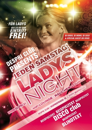 Ladys Night - Disco Flyer Design für Despri.de #0002
