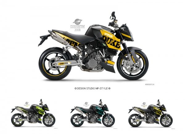 Powerstyle – motorbike decal set - M2 für Super Duke 990