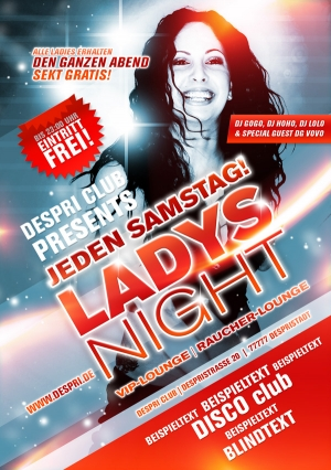Ladys Night - Disco Flyer Design für Despri.de #0001