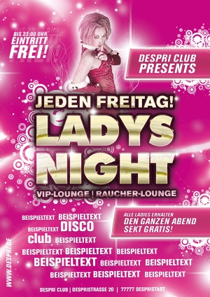 Ladys Night - Disco Flyer Design für Despri.de #0003